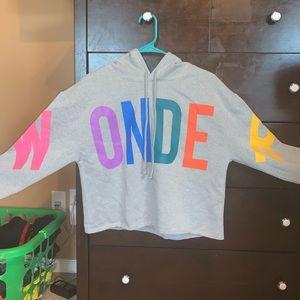 """Colorful """"WONDER"""" hoodie"""